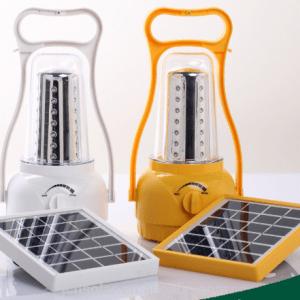Solar rechargable lamp
